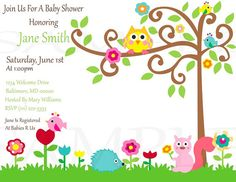 Happi Tree Baby Shower or Birthday by PenguinPartyPress on Etsy