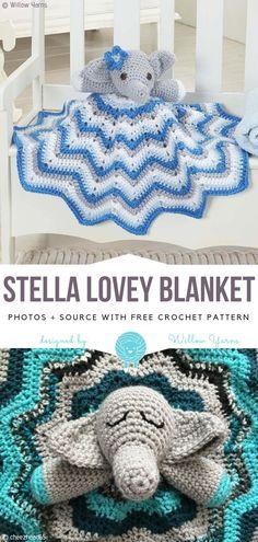 Crochet Baby Elephant Blanket Pattern 67 Ideas For 2020 Crochet Security Blanket, Crochet Baby Blanket Beginner, Lovey Blanket, Crochet Blankets, Baby Blankets, Crochet Baby Blanket Free Pattern, Crochet Stitches Patterns, Crochet Elephant Pattern Free, Crochet Designs