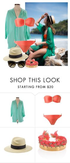 """""""Beach Dreaming"""" by kerimcd ❤ liked on Polyvore featuring All For Color, Lygia & Nanny, Maison Michel, Aurélie Bidermann and Chloé"""
