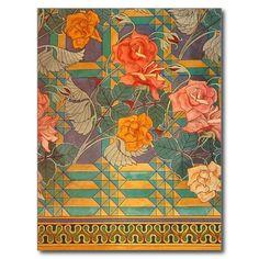 Shop Stanisław Wyspiański ~ Roses Postcard created by ArtNouveauDaz. Personalize it with photos & text or purchase as is! Vintage Images, Vintage Posters, Illustrations, Illustration Art, Art Nouveau Design, Creative Artwork, Postcard Design, Rose Design, Flower Art