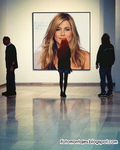 Fotomontaje en una Galeria de Arte