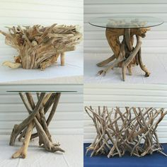 Check out a few of our awesome driftwood tables! www.driftingconcepts.com