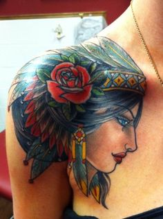 Indian princess tattoo