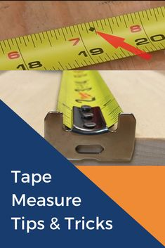 A tape measure is perhaps the most useful tools that a person could own. Whether you're a builder, DIY'er, homeowner, or a renter. Woodworking Techniques, Woodworking Projects Diy, Diy Wood Projects, Woodworking Shop, Woodworking Plans, Welding Projects, Tape Measure Tricks, Home Electrical Wiring, Handyman Projects