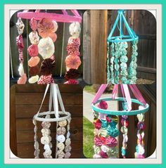 Shabby Chic Mobile Custom Made To Match Your Nursery by RIandPI, $52.00