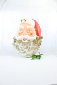 POLORON Santa foam molded vintage Santa Claus by beguilingvintage, $18.00