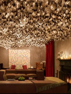 Gramercy Park Hotel: Can you count how many light bulbs used for the ceiling?