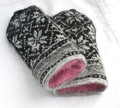 "...icely. Now the mittens are perfect and I love the pretty pink of the Flower Kidsilk.  <span class=""best-highlight"">The liners took exactly 1 skein of the Kidsilk Haze, held double.</span> It was perfect.  Note: The original pattern called for a DK weight yarn, which is what I used...."