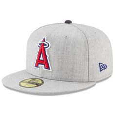 a3830a387d4c8 Men s Los Angeles Angels New Era Heathered Gray Heathered Hype 59FIFTY  Fitted Hat
