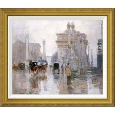 Global Gallery 'After The Rain, The Dewey Arch, New York' by Paul Cornoyer Framed Painting Print Size: