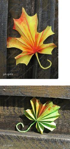 гофрированные кленовые листья