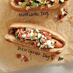 Build a better hot dog with this dressed up dog fetauring reduced fat beef hot dogs topped with black-eyed peas, fresh corn kernels, bell pepper and pickled jalapeño pepper slices.