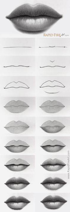 best lips drawing, anime drawings, drawing poses of techniques, great examples of pencil drawings. Cool Art Drawings, Pencil Art Drawings, Art Drawings Sketches, Realistic Drawings, Easy Drawings, Pencil Drawing Tutorials, Mouth Drawing, Drawing Eyes, Fire Art