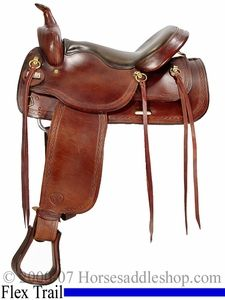 "16"" Big Horn Saddle Flex Tree Pleasure FQHB (Extra Soft Seat Padding) 1655"