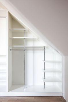 8 Marvelous Tips: Finished Attic Rugs attic flat home. Attic Bedroom Storage, Attic Bedroom Designs, Loft Storage, Attic Closet, Attic Design, Closet Designs, Closet Bedroom, Eaves Storage, Staircase Storage