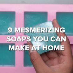 Sugar Scrub Diy Discover 9 Mesmerizing Soaps You Can Make At Home These soaps are so cool and you can make them all yourself! [ Courtesy of Nifty ] Handmade Soap Recipes, Handmade Soaps, 5 Minute Crafts Videos, Craft Videos, Diy Videos, Diy Crafts Hacks, Diy Home Crafts, Diy Soap Video, Home Made Soap