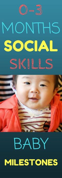 0-3 Month Social Skills:  Find out what social skills look like in your 0-3 month old baby.  Learn ways to encourage social skill development. Information in this article contains important milestones in your infants development!   Learning made simple!