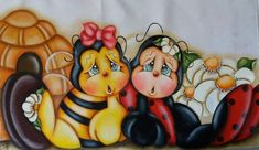 Pintura Country, Treasure Boxes, Box Design, Diy And Crafts, Cow, Clip Art, Cupcake Liners, Ladybugs, Bees