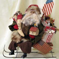 Nicol Sayre Original Santa Claus Doll Unsigned - OOAK