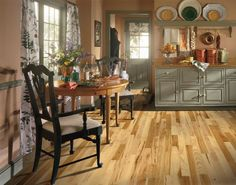 Hardwood Flooring: Hickory - Country Natural  3 1/4 in. Solid Hardwood Plank  Bruce Flooring
