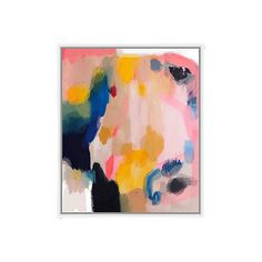 Valerie Tovar Pink Lemonade Paintings ($199) ❤ liked on Polyvore featuring home, home decor, wall art, abstract wall art, canvas paintings, canvas home decor, pink wall art and pink abstract painting