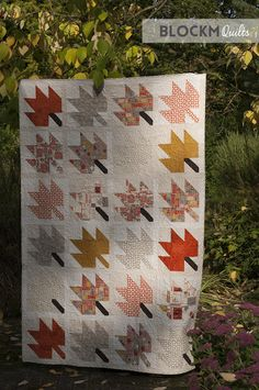 block M quilts: Modern maples quilt October - finished!