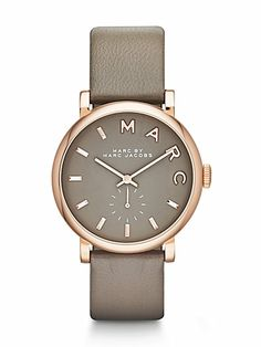 Marc by Marc Jacobs - Rose Goldtone Stainless Steel & Leather Watch/Grey - Saks.com