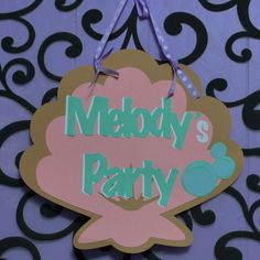 Little Mermaid Ariel Under the Sea inspired Door Sign / Party Sign.