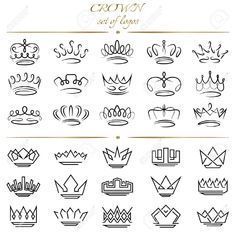 Lettering Fonts Discover Set of crowns in different styles. - Millions of Creative Stock Photos Vectors Videos and Music Files For Your Inspiration and Projects. Queen Crown Tattoo, Small Crown Tattoo, Tattoo Crown, Princess Crown Tattoos, Crown Finger Tattoo, Princess Tiara Tattoo, Halo Tattoo, Tiny Finger Tattoos, Mini Tattoos