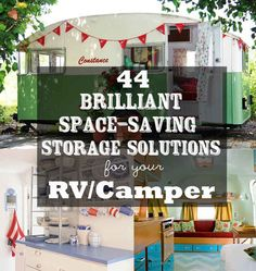 Some solutions look great for a pop-up. 44 Brilliant Space-Saving Storage Solutions For Your RV/Camper - BuzzFeed Mobile