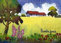 ACEO Original watercolour Cottage in by Pamelajonesartstudio, £3.95