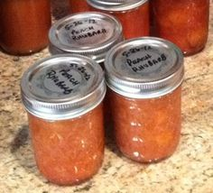 Quick post to post another of the recipes that came from Las Vegas Memorial Day Weekend canning! Peach Rhubarb Jam - Small Batch!    2 cups ...