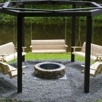 Fire Pit Swing Set for that future awesome backyard. Sets fire pit Make Your Own Beautiful Fire Pit Swing Set Fire Pit Swings, Diy Fire Pit, Porch Swings, Outdoor Swings, Backyard Swings, Big Backyard, Backyard Barbeque, Outdoor Oven, Backyard Camping