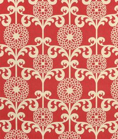 Waverly Fun Floret Berry Fabric. A nice floral accent for cream and pink / red rooms