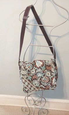 Retired Vera Bradley cross-body messenger bag in Java Blue  #VeraBradley #MessengerCrossBody