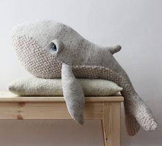 Whale Stuffed Animal handmade in Paris #etsy #sealife #humpback #children #kids #toy