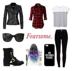 """Fearsome"" by stefany-bastidas ❤ liked on Polyvore featuring LE3NO, Balmain, River Island, Chanel, Casetify and Wattpadnovela"