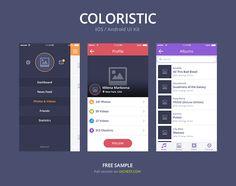 Coloristic UI Kit for Sketch, vector image - 365PSD.com