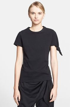 J.W.ANDERSON Knotted Double Knit Cotton Jersey Tee available at #Nordstrom