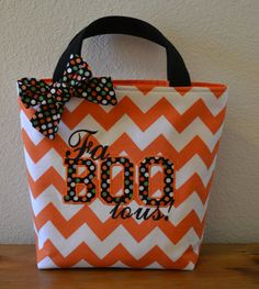 Halloween Trick Or Treat Bag by TheLazyDogStudio on Etsy, $28.00