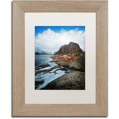 Trademark Fine Art Hamnoy Canvas Art by Philippe Sainte-Laudy, White Matte, Birch Frame, Size: 11 x 14, Brown
