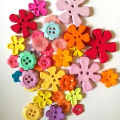 #01 Flower shaped buttons, assorted sizes and colours. 23g. €1.20 + p&p. I'll combine postage on multiple items. Items as pictured. See 1st photo for sale rules. Comment below to buy or email, all payments via PayPal. Let me know yr country for accurate postage rate. #craft #craftsupplies #destash #craftdestash #sewing #forsale #buy #buycraftsupplies #buttons #buybuttons #rainbow #flowers #flowerbuttons Postage Rates, Rainbow Flowers, Photos For Sale, Flower Shape, Craft Supplies, Buttons, Colours, Shapes, Country