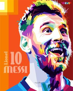 Lionel messi – barcelona fc in wpap By.syarifkuroakai Lionel messi – barcelona fc in wpap By. Football Player Messi, Messi Soccer, Lionel Messi Barcelona, Fc Barcelona, Barcelona Football, Pop Art Face, Messi Vs, Pop Art Portraits, Afro Art