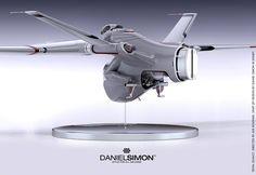 Final Design Model by Daniel Simon Spaceship Design, Spaceship Concept, Concept Ships, Concept Cars, Tron Legacy, Sci Fi Ships, Futuristic Art, Aircraft Design, Space Crafts