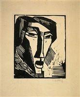 Karl Schmidt-Rottluff - Head of a Woman.