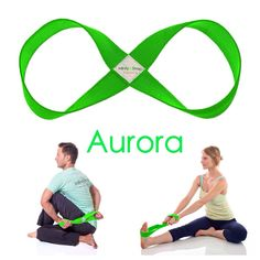 Color of the week! AURORA. Our Neon Green Stretch Infinity Strap really POPS!!! #infinitystrap #yogastrap
