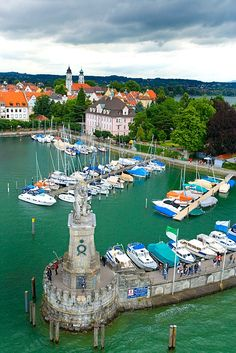 Lindau Island, Lake Constance, Germany.  Go to www.YourTravelVideos.com or just click on photo for home videos and much more on sites like this.