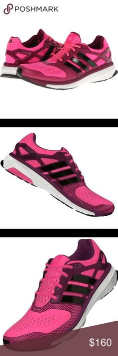 Adidas Women's Running Shoes Energy Boost 2 Brand New In Original Box. Out of Stock Everywhere online. Adidas All Season Women's Running Shoes Energy Boost 2 Solar Pink/Black/Tri-Berry. Molded synthetic overlays and heel cage for structural support. Molded foam insole for a light, pillowy underfoot feel. Boost energy-returning technology offers an endless supply of light and fast energy, stride after stride.Ground-adapting FORMOTION promotes the smoothest, most comfortable ride…