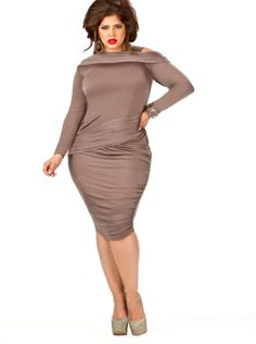 """TURN HEADS & GIVE THE COLD SHOULDER AT THE SAME DARN TIME IN THIS #MonifC """"Nicole Cold Shoulder Ruched Dress!"""""""