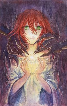 The Ancient Magus' Bride: Elias and Chise > Artist unknown Dark Fantasy, Fantasy Art, Anime Manga, Anime Art, Watch Manga, Elias Ainsworth, Chise Hatori, The Ancient Magus Bride, Dragon Ball